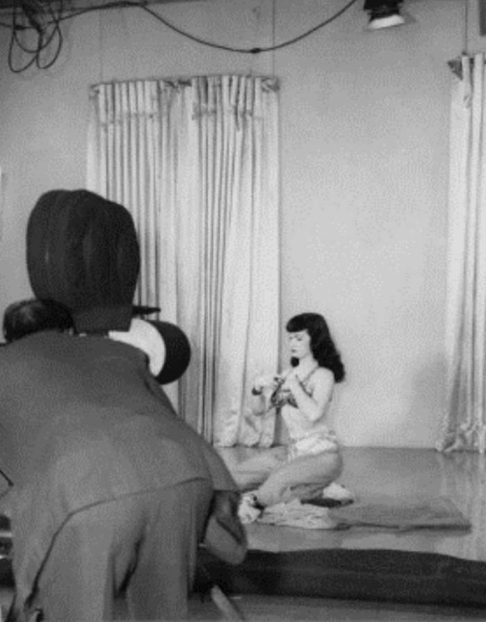 Bettie and movie camera