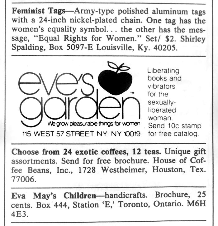 Eve's Garden ad